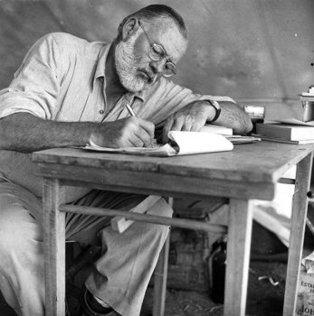 Tips from 13 Famous Writers on Overcoming Writer's Block Tips Ernest Hemingway